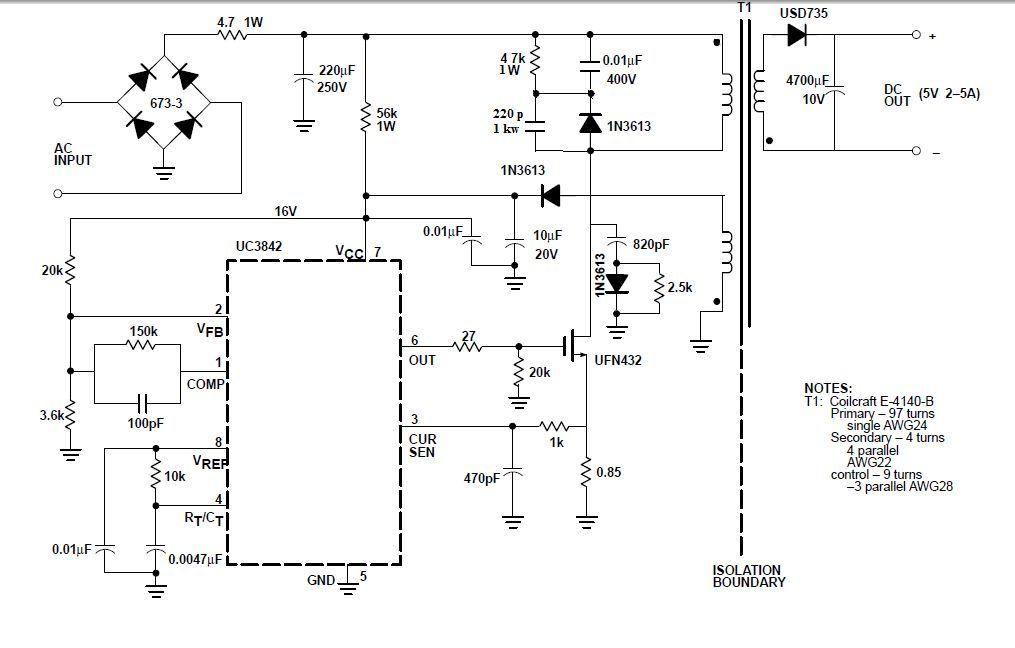 схемы импульсных зарядных устройств на uc3842