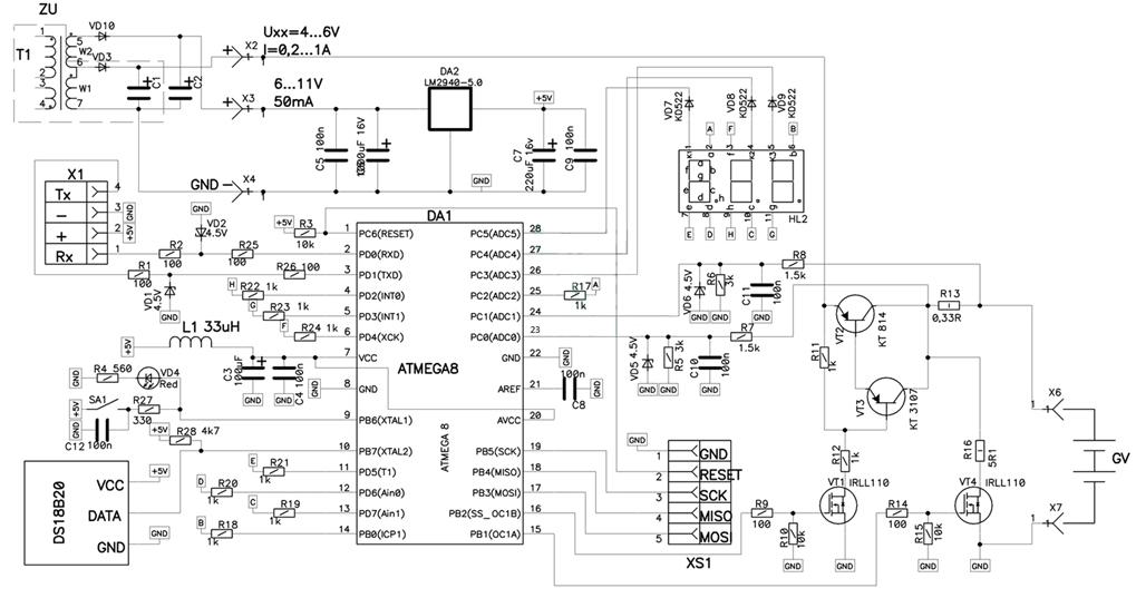 Схема зарядного устройства для автомобильного аккумулятора