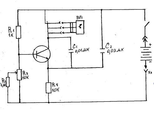 электрическая схема наушников