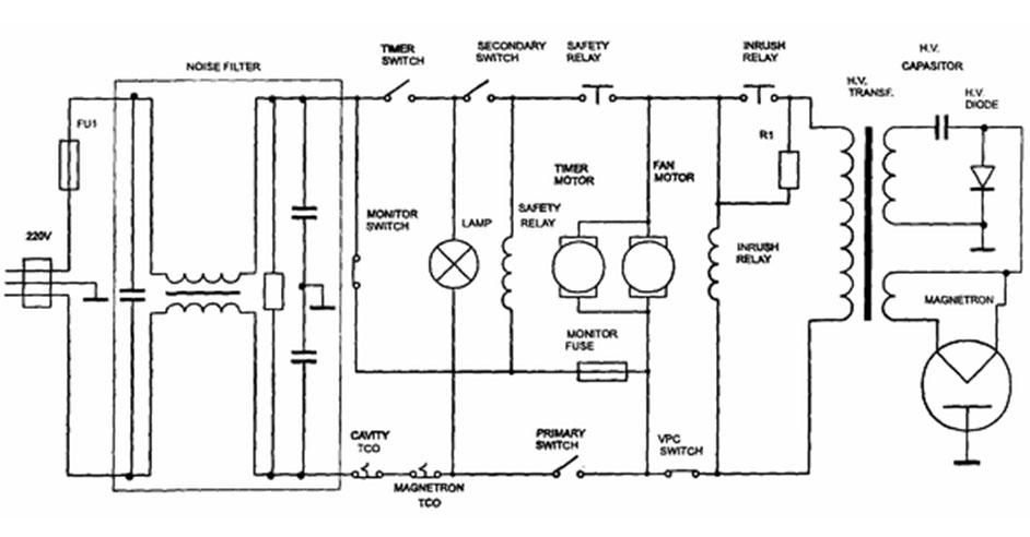 Схема электрическая печи