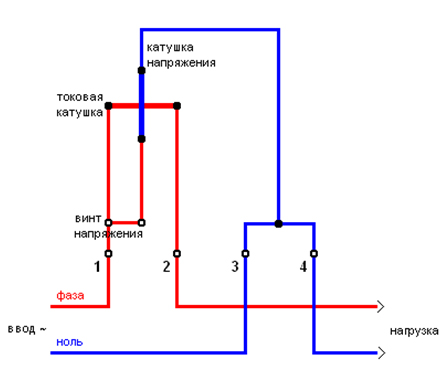 Схема электрическая счетчика